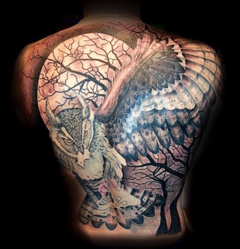 Back tattoo by Hart & Huntington Tattoo Las Vegas