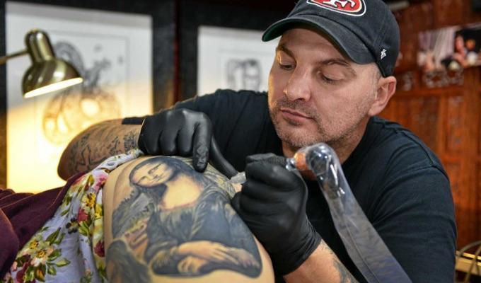 H&H Tattoo artist Damien Wickham